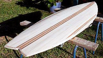 "5'6"" FUGU FISH Wood Surfboard Kit"
