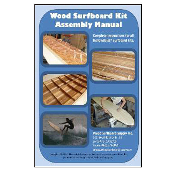 Wood Surfboard Kits Assembly Manual (FREE) - Wave Tribe | Share The Stoke ®