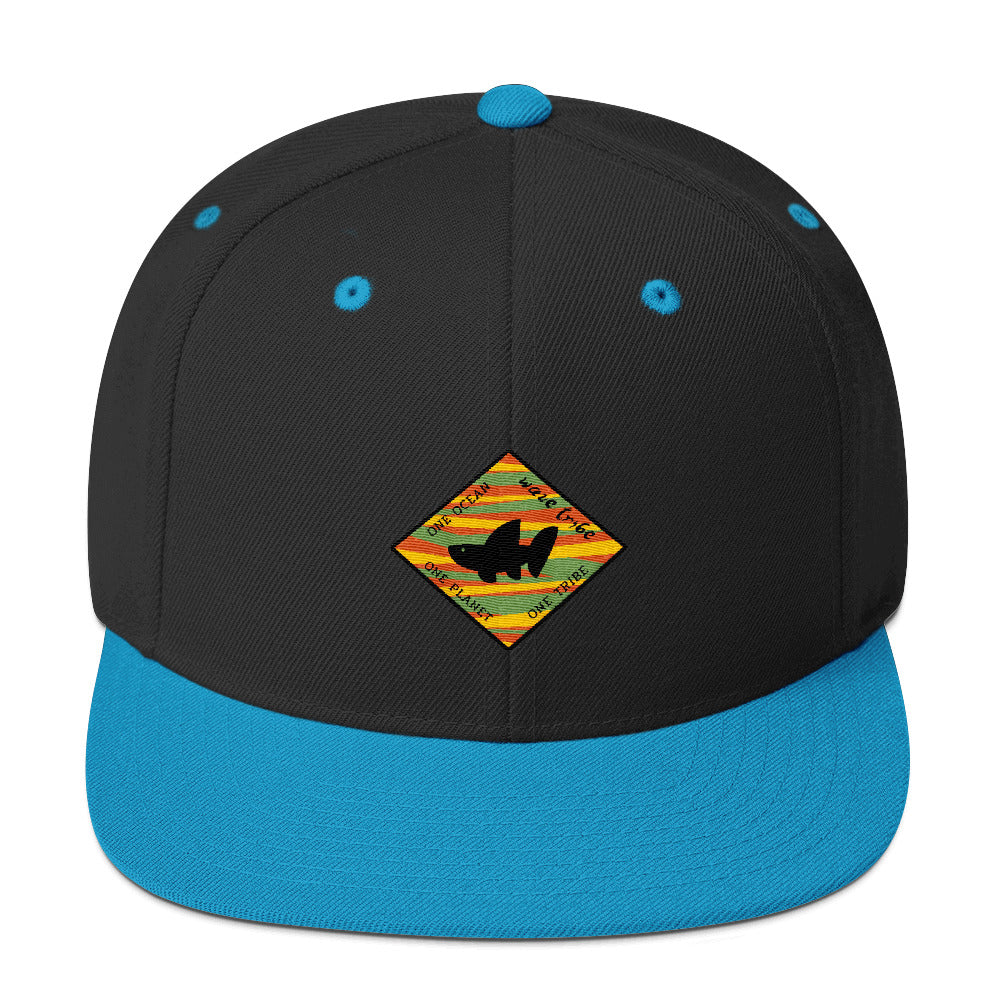 Wave Tribe One Ocean, One Planet, One Tribe Whale Shark Logo Snapback Hat