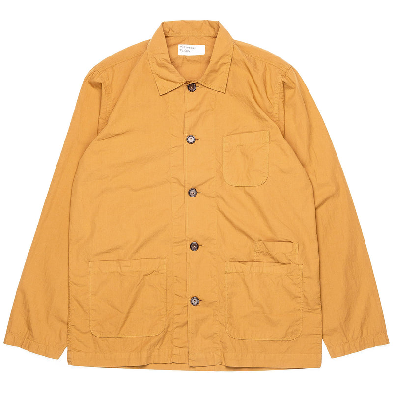 Universal Works Bakers Overshirt Cumin Front