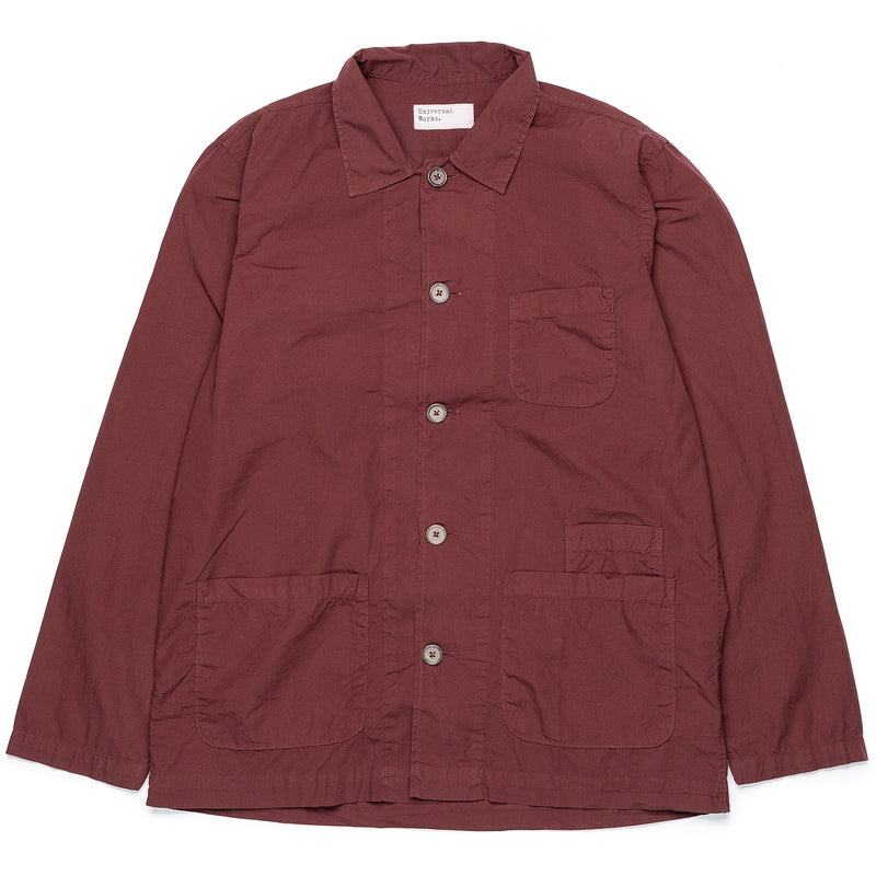 Universal Works Bakers Overshirt Raisin Front