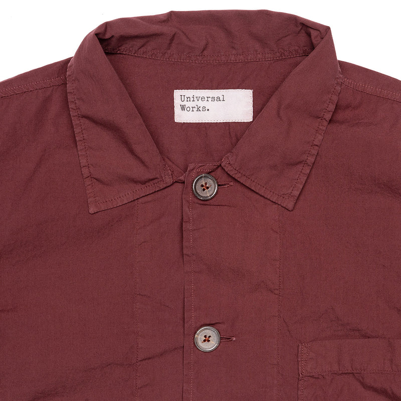 Universal Works Bakers Overshirt Raisin Collar