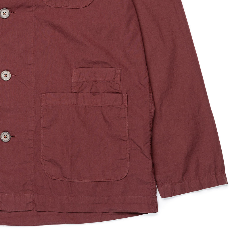 Universal Works Bakers Overshirt Raisin Waist Pockets & Cuff