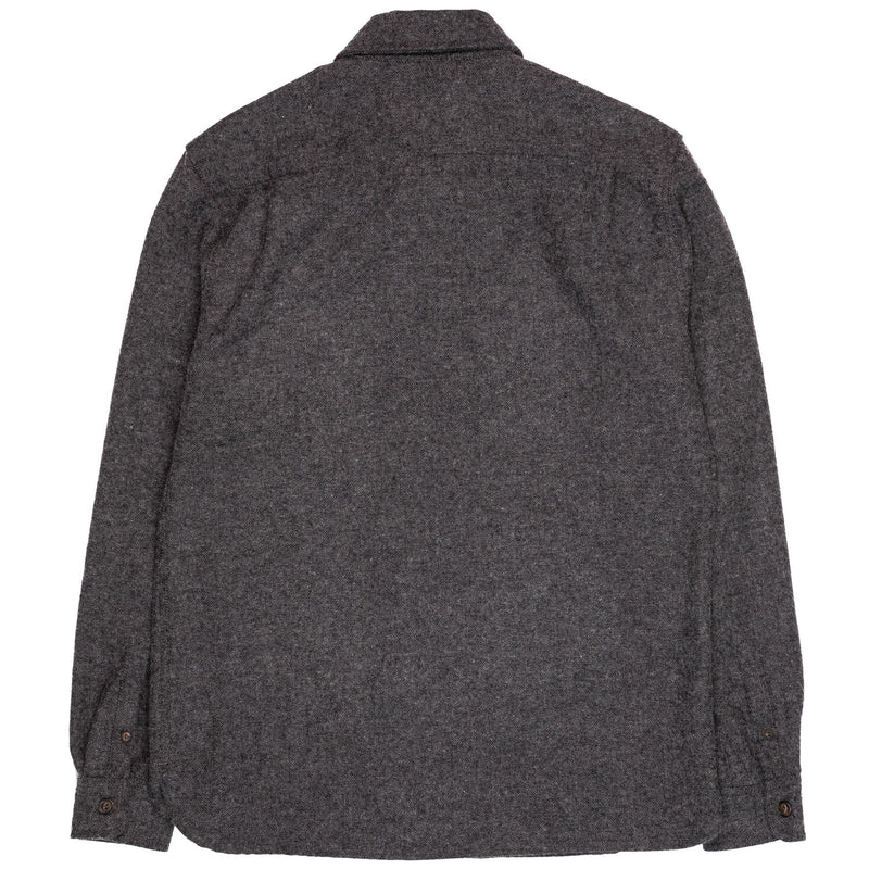 Freenote Benson Charcoal Herringbone Back
