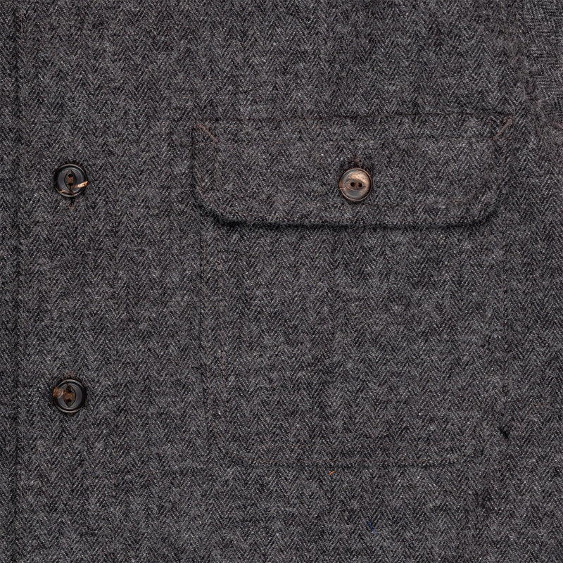 Freenote Benson Charcoal Herringbone Pocket Detail