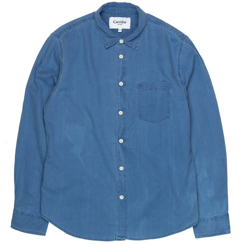 Corridor Long Sleeve Heavy Wash Dobby Front
