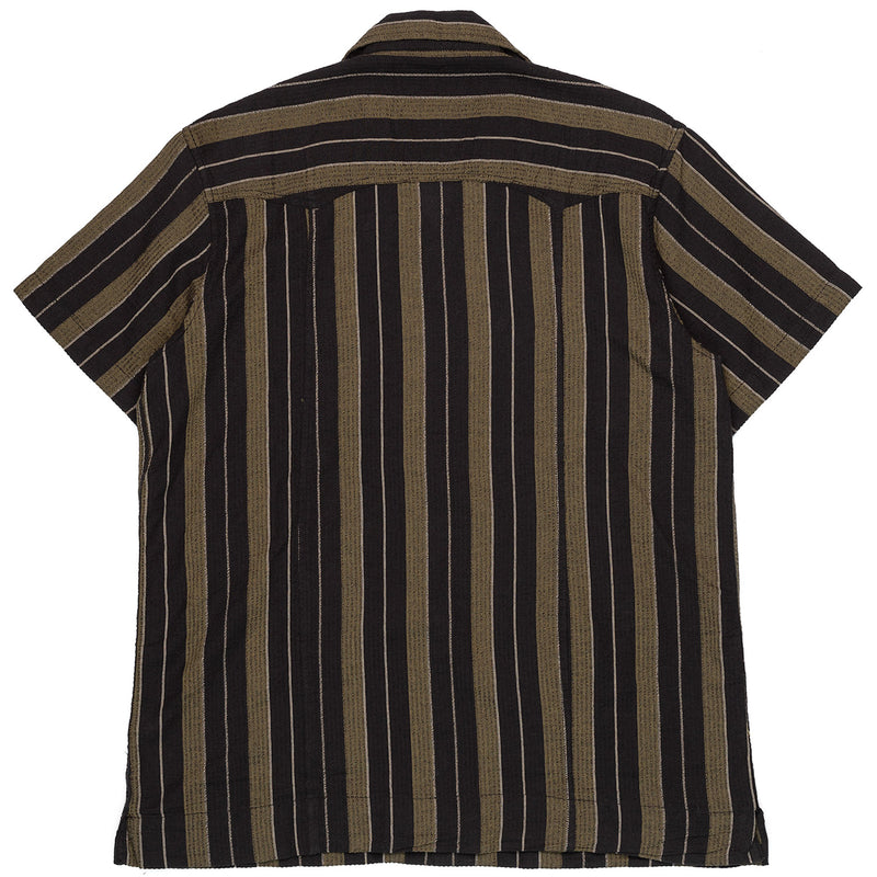 Corridor Short Sleeve Black Olive Summer Stripe Back