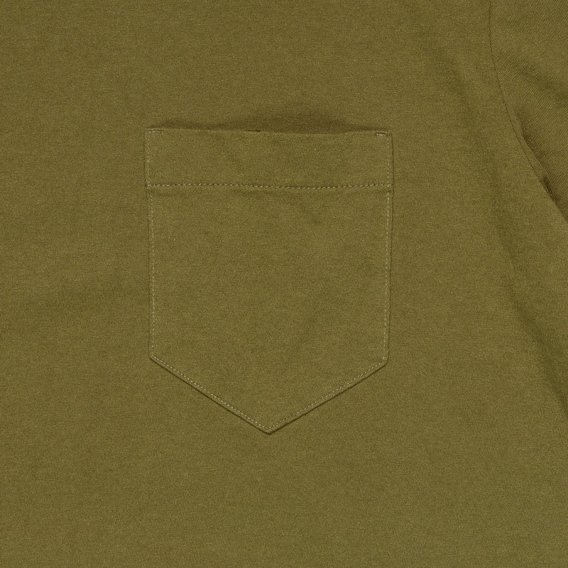 Homespun Knitwear Dad's Pocket Tee Olive Pocket