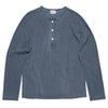 Freenote Cloth 13oz Henley Faded Blue Front