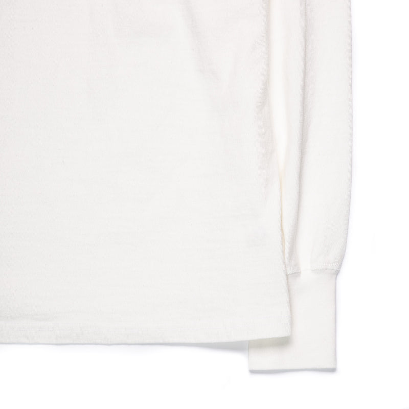 Homespun Knitwear Surplus Henley Off-White Cuff Detail