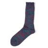 AnonymousIsm Five Color Crew Sock Indigo