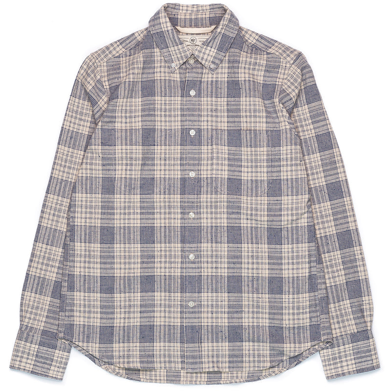 Rogue Territory Jumper Shirt Linen Blend Plaid Front