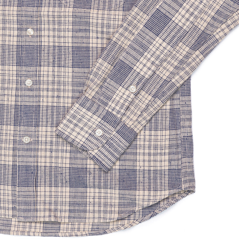 Rogue Territory Jumper Shirt Linen Blend Plaid Cuff