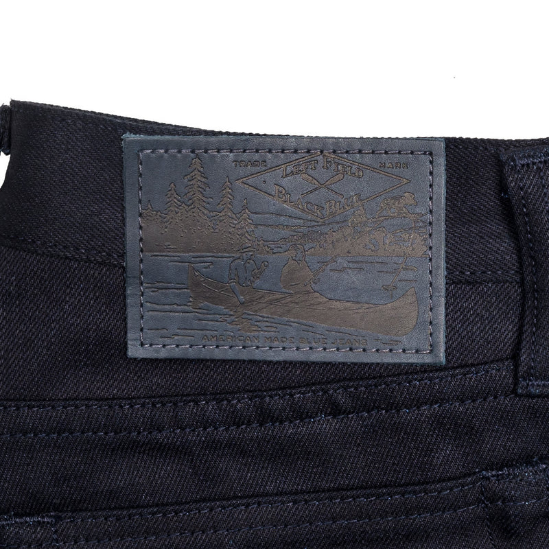 Left Field -Left Field x BlackBlue Greaser Jeans—Collect Mills 15 ounce Black Weft - BlackBlue - Default - 3