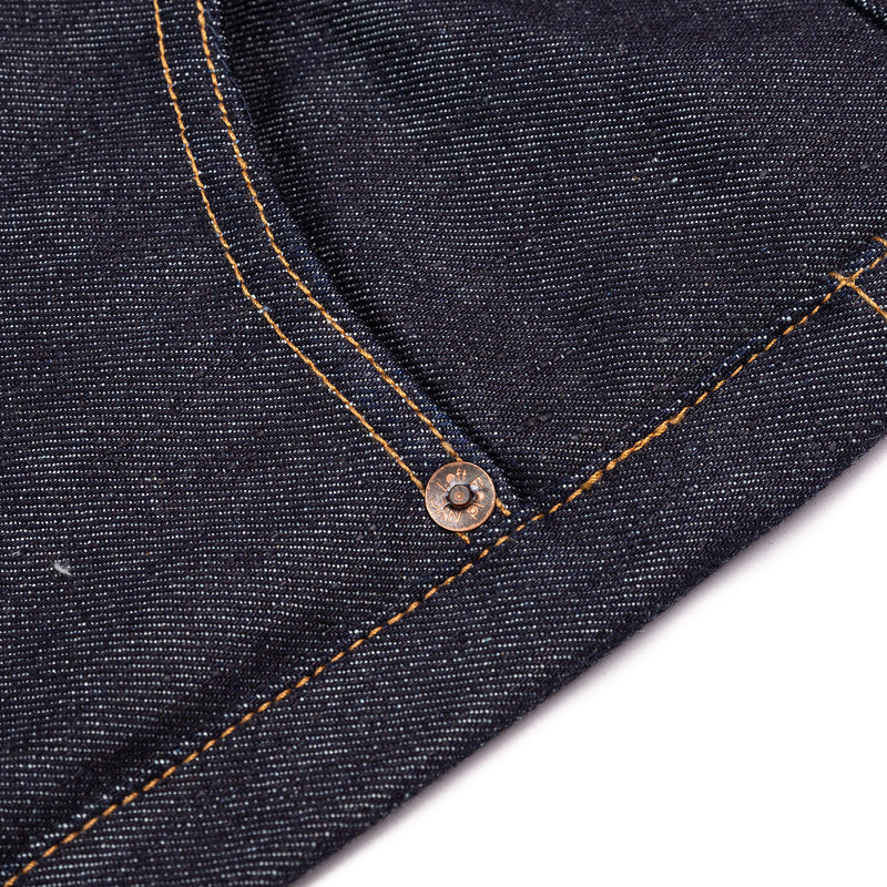 Left Field Atlas Cone Mills 13 oz Rivet Detail