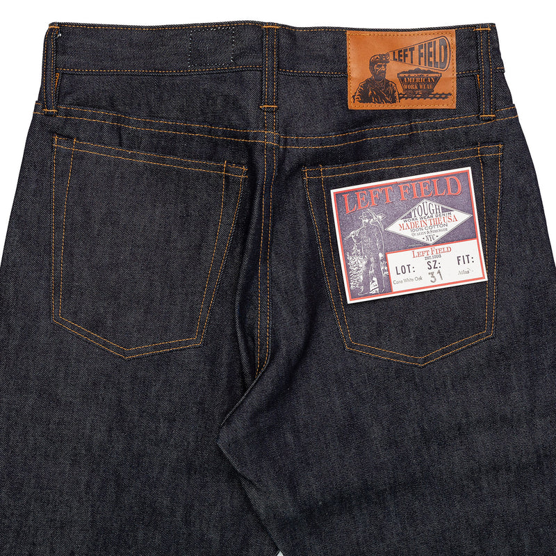Left Field Atlas Cone Mills 13 oz Top Block Back