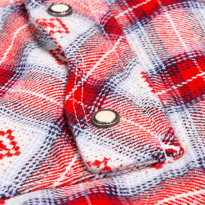 Freenote Cloth Modern Western True Red Snap Detail