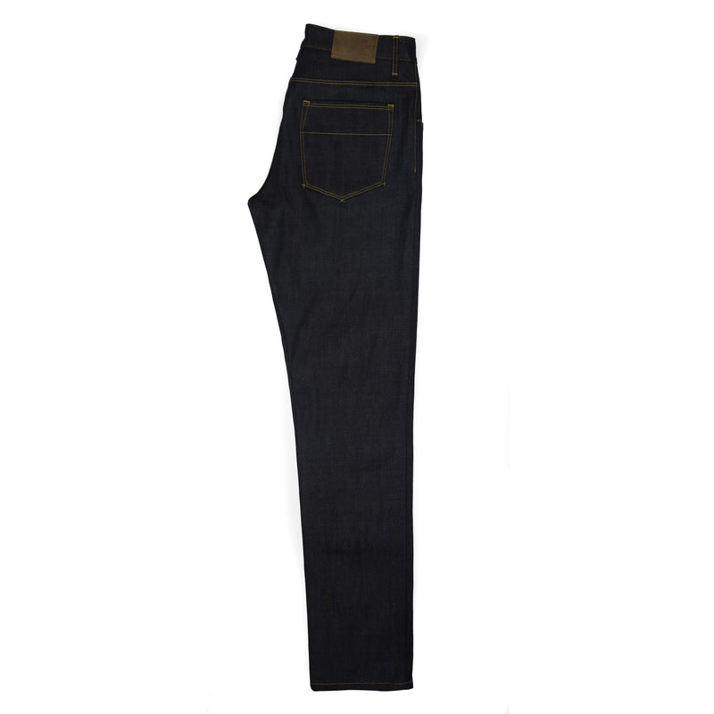 Raleigh Denim + Workshop -Raleigh Martin Thin Taper Jeans—Cone Mills 12.5 Ounce - BlackBlue - Default - 3