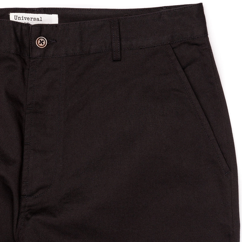 Universal Works Military Chino Black Front Pockets