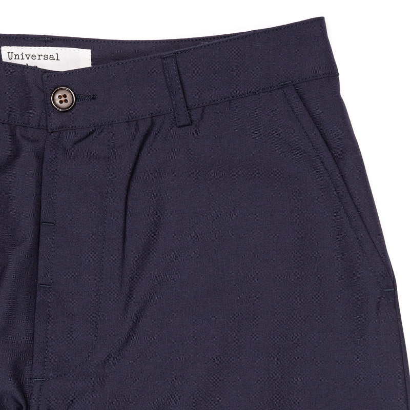 Universal Works Military Chino Navy Front Pockets