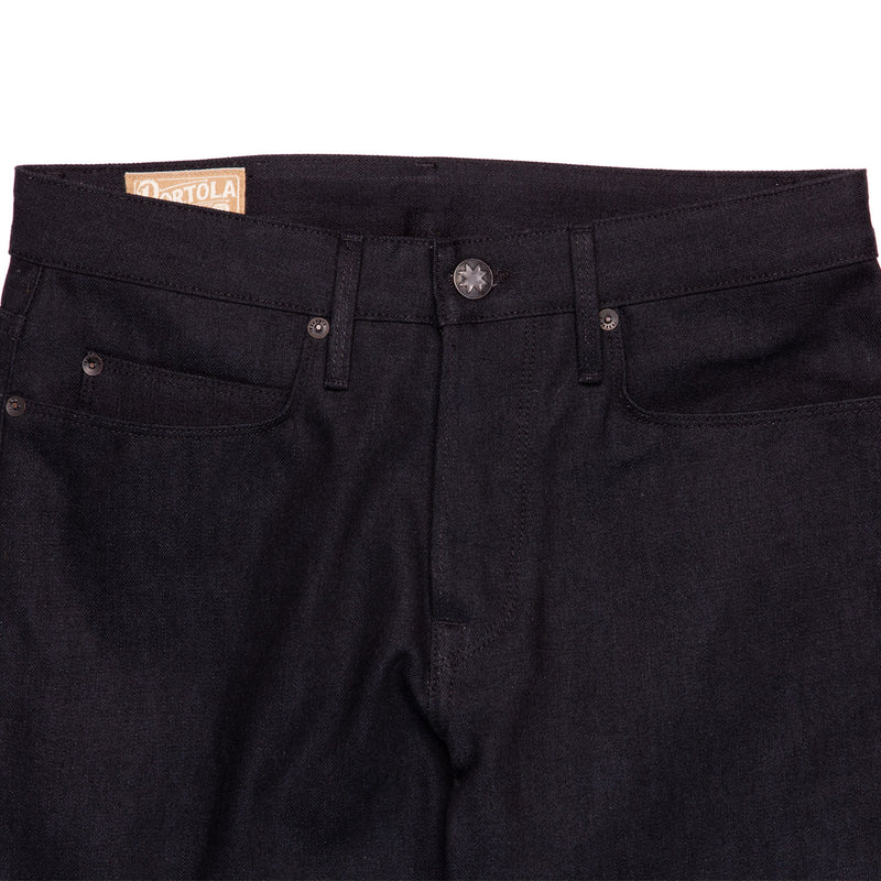 Freenote Cloth Portola Black Grey 14.25 oz Denim Front Detail