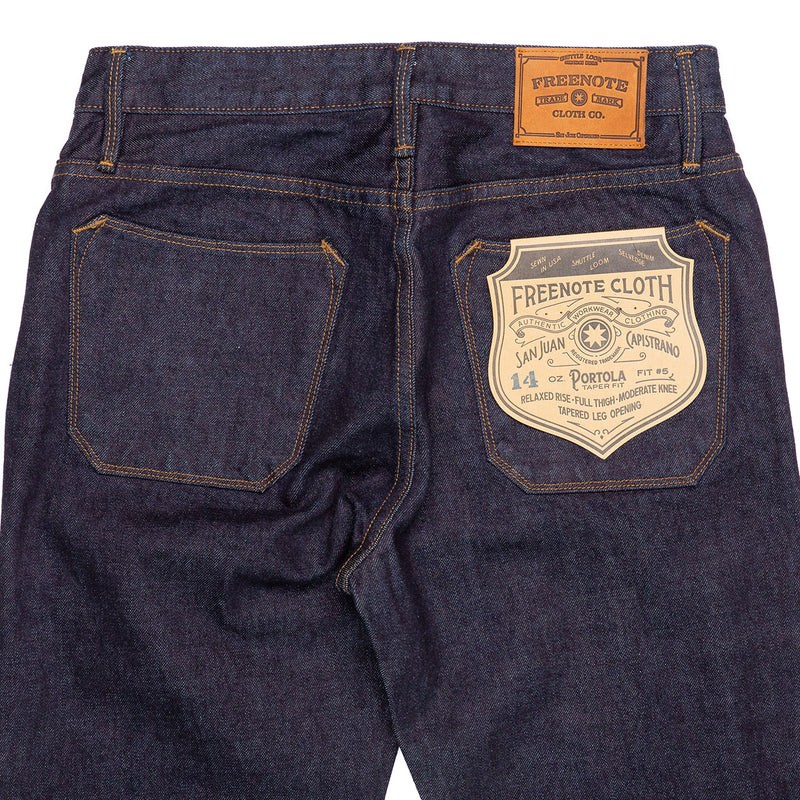 Freenote Cloth Portola 14.25 oz Indigo Rinsed Back Details