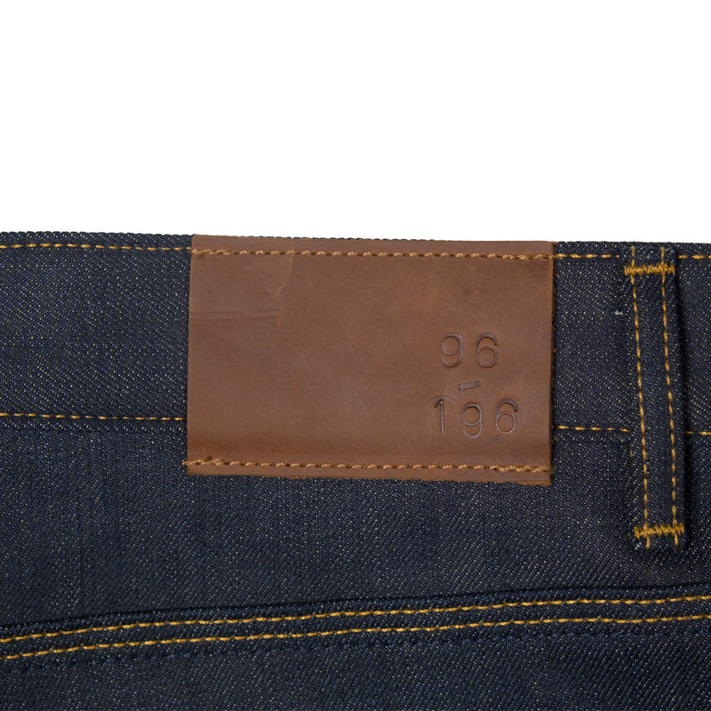 Raleigh Denim + Workshop -Raleigh Martin Thin Taper Jeans—Cone Mills 12.5 Ounce - BlackBlue - Default - 6