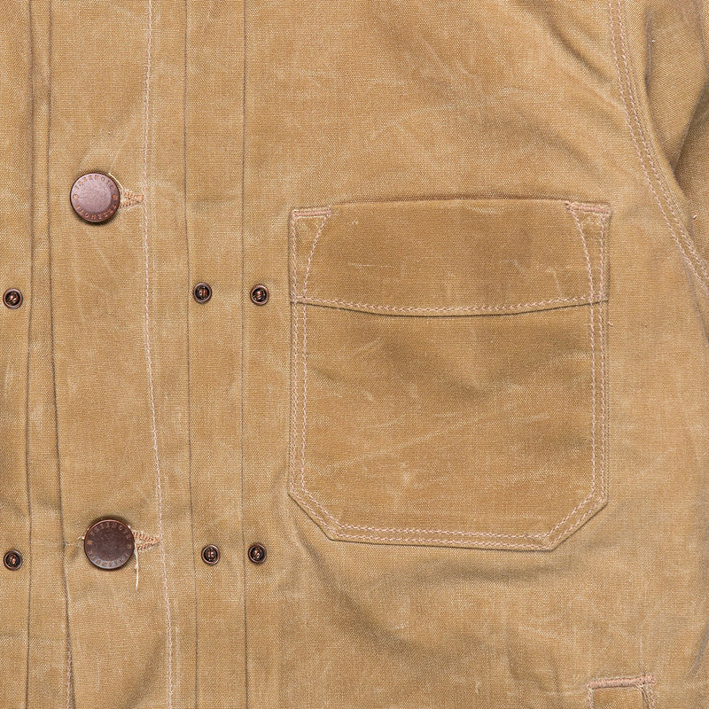 Freenote Cloth Riders Jacket Tobacco Chest Pocket Detail