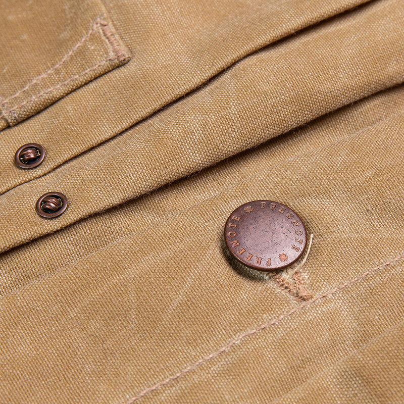 Freenote Cloth Riders Jacket Tobacco Hardware Detail