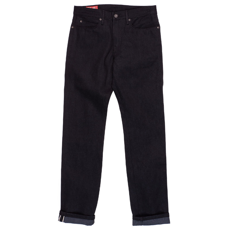 Freenote Cloth Rios  Black Grey Denim Front