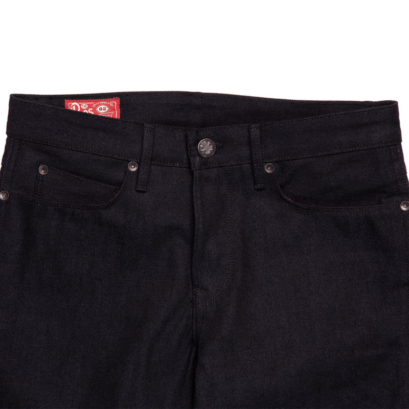 Freenote Cloth Rios  Black Grey Denim Front Details
