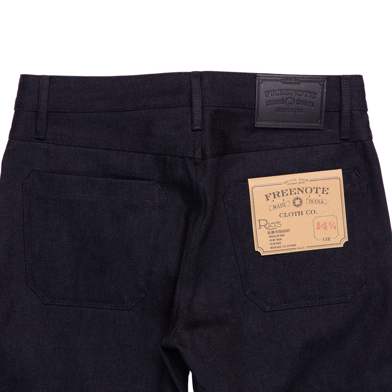 Freenote Cloth Rios  Black Grey Denim Back Details