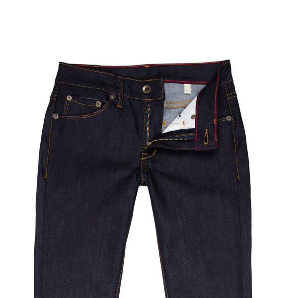 Raleigh Denim + Workshop -Raleigh Surry Women's Jean—Cone Mills Raw Stretch Denim - BlackBlue - Default - 2