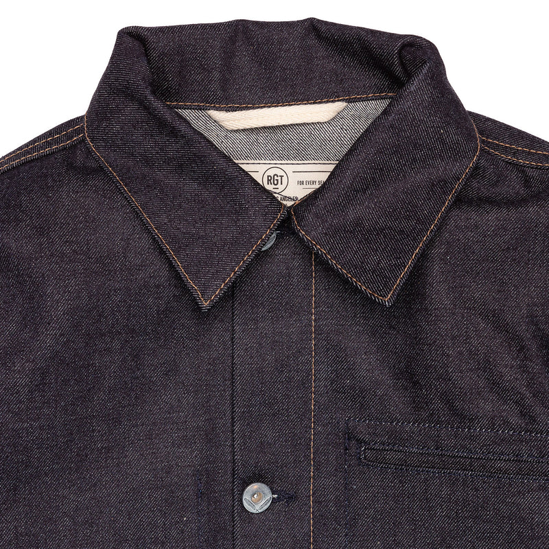 Rogue Territory Supply Jacket 15oz Indigo Collar