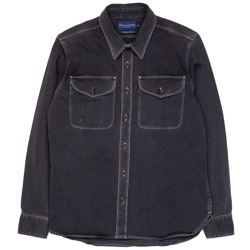 Freenote Cloth Utility Shirt Charcoal Front