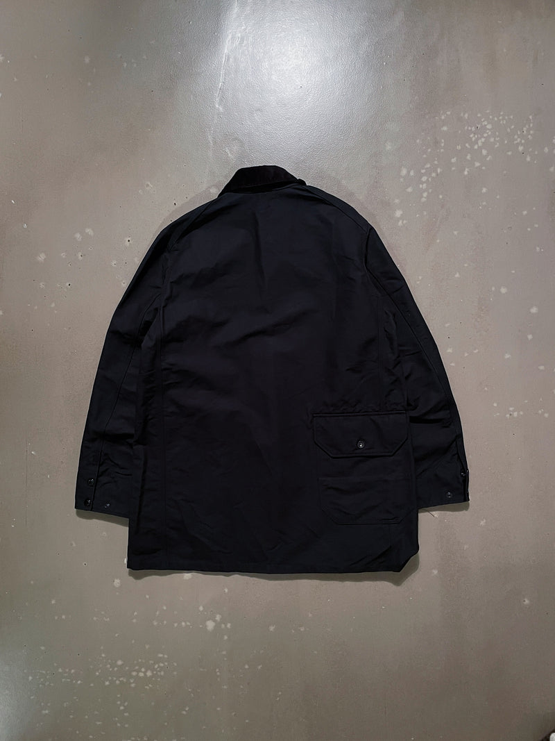 Long Logger Jacket - Black Cotton Double Cloth