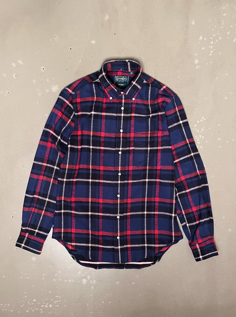 Rough Check Flannel - Navy/Red
