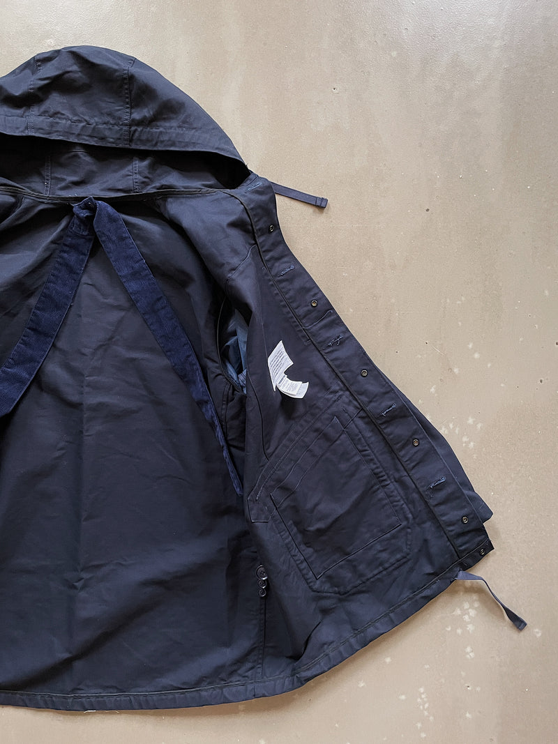 Madison Parka - Navy Cotton Double Cloth
