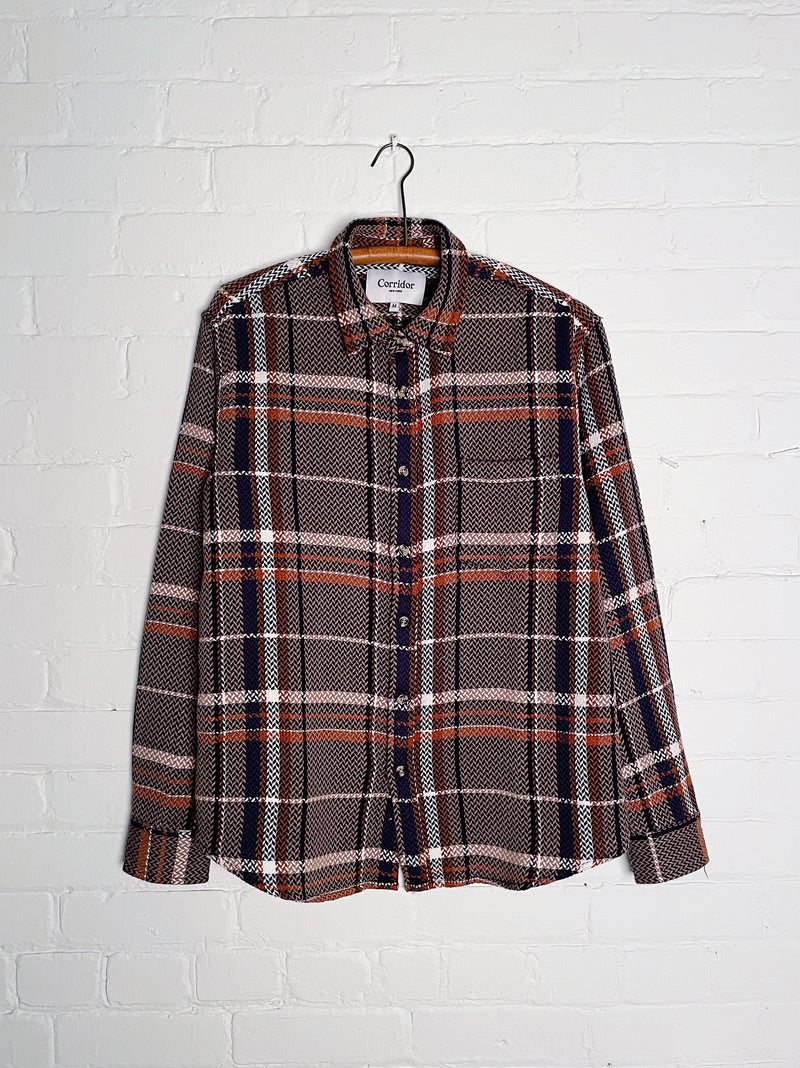Acid Plaid LS - Taupe