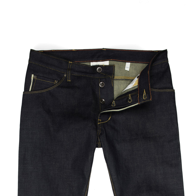 Raleigh Denim + Workshop -Raleigh Martin Thin Taper Jeans—Cone Mills 12.5 Ounce - BlackBlue - Default - 2