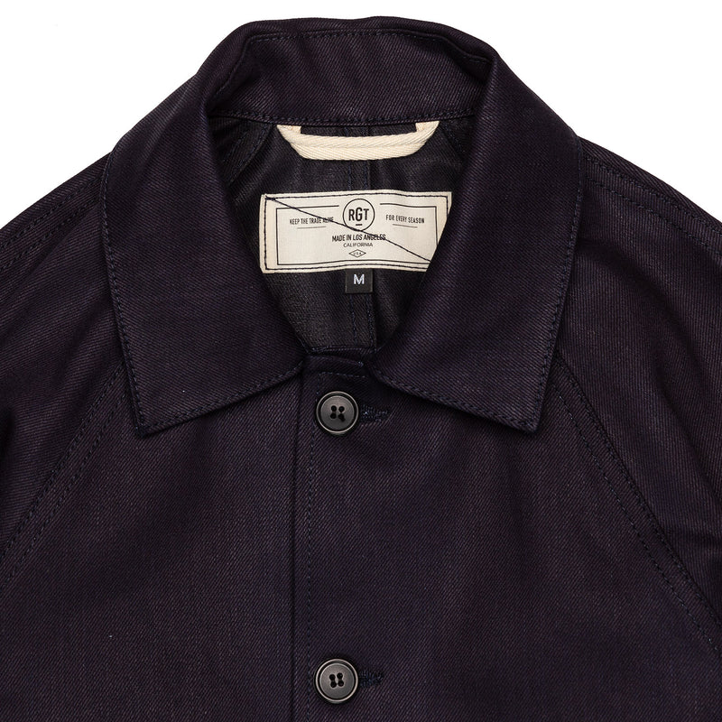 Rogue Territory Peacoat 12oz Dark Denim Collar