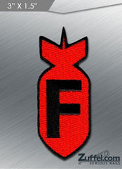 F Bomb Morale Patch - Red