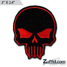Skull Morale Patch - Black/Red