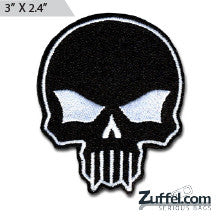 Skull Morale Patch - Black/White