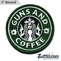 Guns and Coffee Morale Patch - Full Color