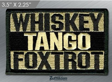 WHISKEY TANGO FOXTROT Morale Patch - ACU