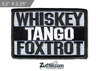 WHISKEY TANGO FOXTROT Morale Patch - Black