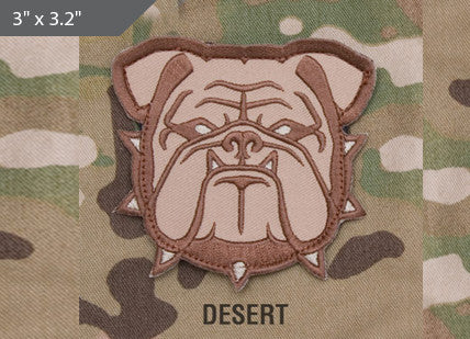 Bulldog Head Morale Patch - Desert