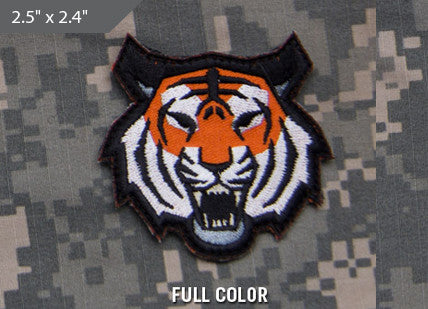 Tiger Head Morale Patch - Full Color