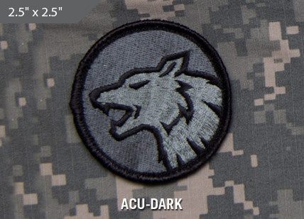 Wolf Head Morale Patch - ACU Dark